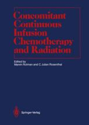 Concomitant Continuous Infusion Chemotherapy and Radiation