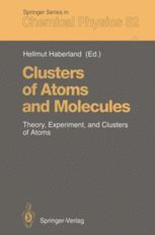 Clusters of Atoms and Molecules