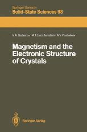 Magnetism and the Electronic Structure of Crystals