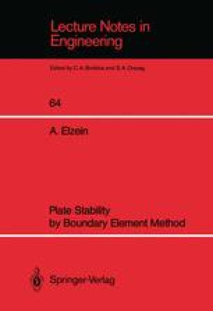 Plate Stability by Boundary Element Method