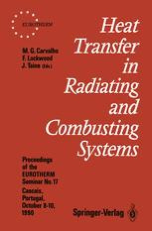Heat Transfer in Radiating and Combusting Systems
