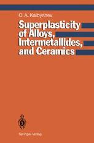 Superplasticity of Alloys, Intermetallides and Ceramics