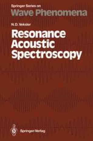Resonance Acoustic Spectroscopy