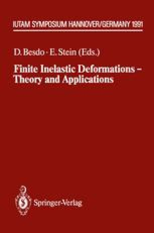 Finite Inelastic Deformations — Theory and Applications