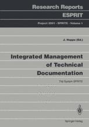 Integrated Management of Technical Documentation