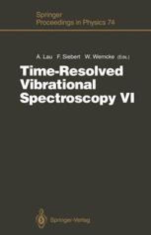 Time-Resolved Vibrational Spectroscopy VI