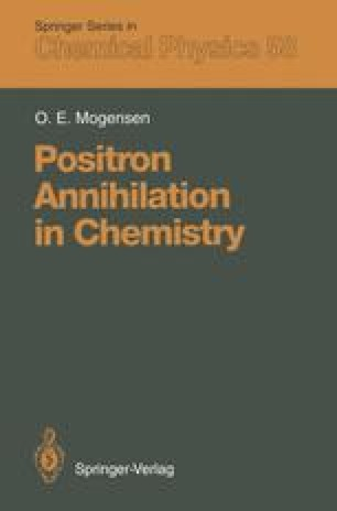 Positron Annihilation in Chemistry