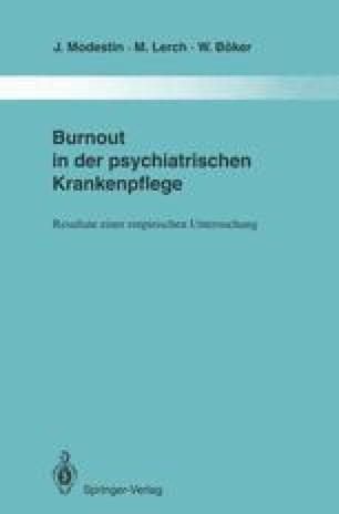 Burnout in der psychiatrischen Krankenpflege