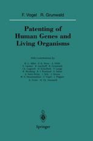 Patenting of Human Genes and Living Organisms