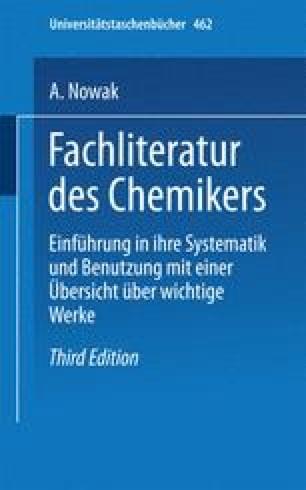 Fachliteratur des Chemikers