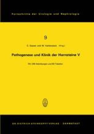 Pathogenese und Klinik der Harnsteine V