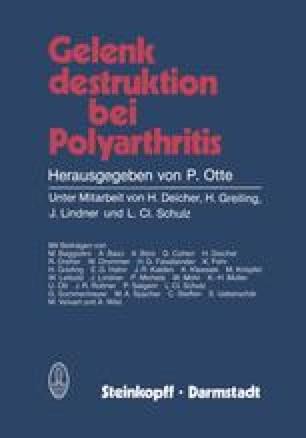 Gelenk destruktion bei Polyarthritis