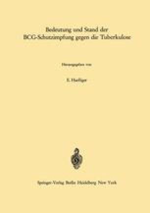 Bedeutung und Stand der BCG-Schutzimpfung gegen die Tuberkulose