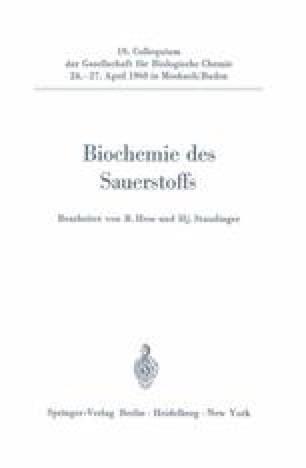 Biochemie des Sauerstoffs