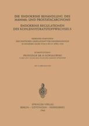 Die Endokrine Behandlung des Mamma- und Prostatacarcinoms