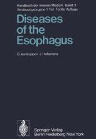 Diseases of the Esophagus