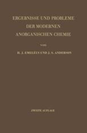 Ergebnisse und Probleme der Modernen Anorganischen Chemie