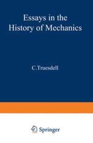 Essays in the History of Mechanics