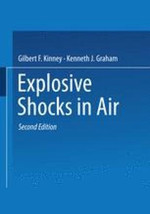 Explosive Shocks in Air