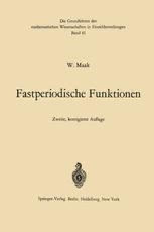 Fastperiodische Funktionen