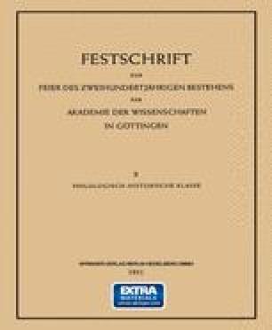 Festschrift zur Feier des Zweihundertjährigen Bestehens der Akademie der Wissenschaften in Göttingen