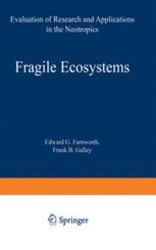 Fragile Ecosystems