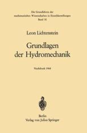 Grundlagen der Hydromechanik