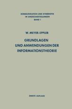 Grundlagen und Anwendungen der Informationstheorie