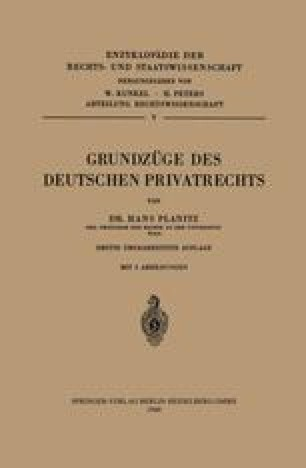 Grundzüge des Deutschen Privatrechts
