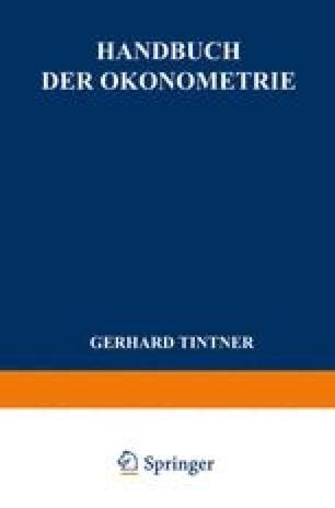 Handbuch der Ökonometrie