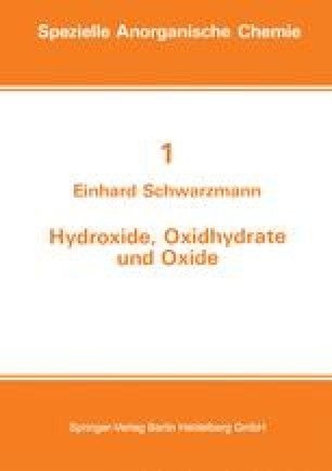 Hydroxide, Oxidhydrate und Oxide