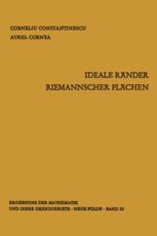 Ideale Ränder Riemannscher Flächen