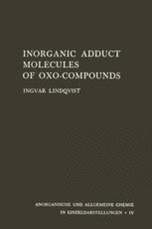 Inorganic Adduct Molecules of Oxo-Compounds
