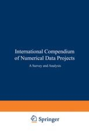 International Compendium of Numerical Data Projects