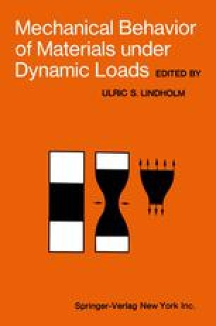 Mechanical Behavior of Materials under Dynamic Loads
