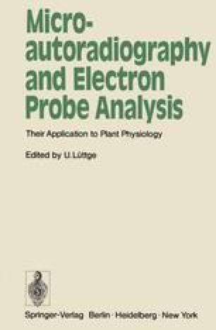 Microautoradiography and Electron Probe Analysis