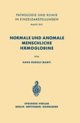 Normale und anomale menschliche Hämoglobine