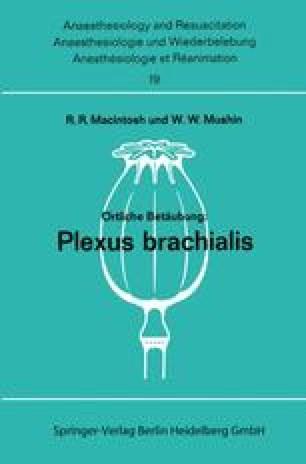 Örtliche Betäubung: Plexus Brachialis