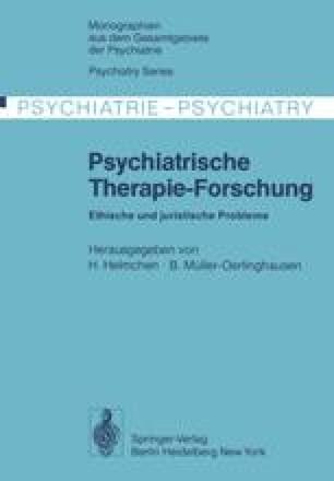 Psychiatrische Therapie-Forschung