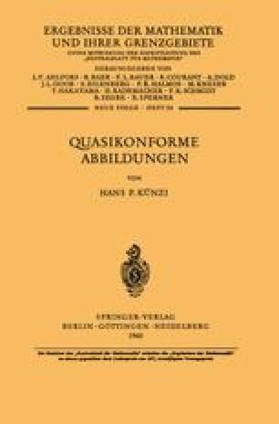 Quasikonforme Abbildungen
