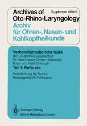 Verhandlungsbericht 1984 der Deutschen Gesellschaft für Hals- Nasen- Ohren-Heilkunde, Kopf- und Hals-Chirurgie
