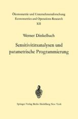 Sensitivitätsanalysen und parametrische Programmierung