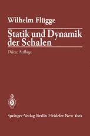 Statik und Dynamik der Schalen