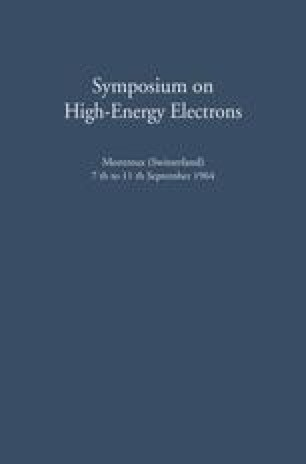 Symposium on High-Energy Electrons