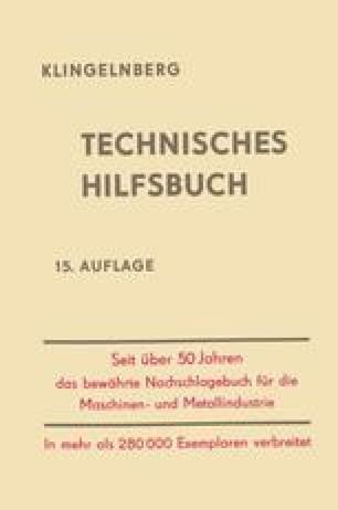 Klingelnberg · Technisches Hilfsbuch
