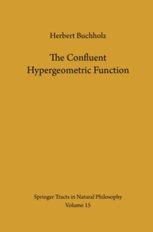 The Confluent Hypergeometric Function