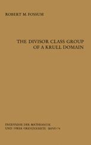 The Divisor Class Group of a Krull Domain