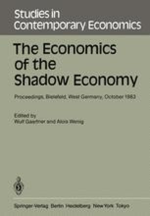 The Economics of the Shadow Economy