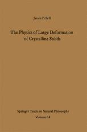 The Physics of Large Deformation of Crystalline Solids