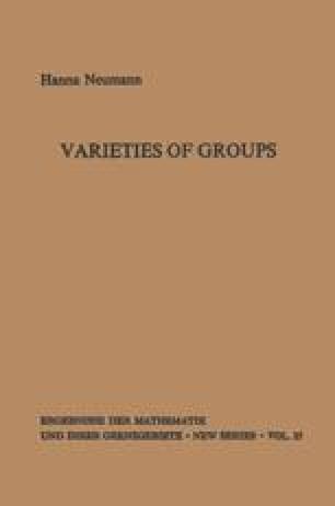 Varieties of Groups